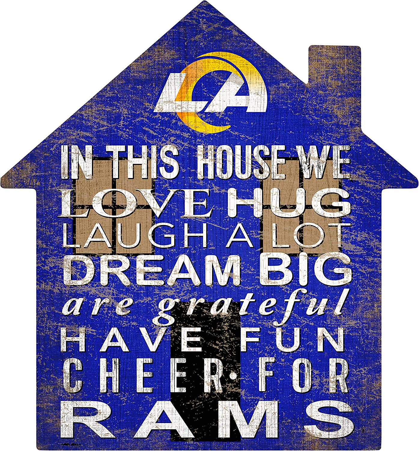 Fan Creations NFL St. Louis Rams Unisex Los Angeles Rams House Sign, Team Color, 12 inch (N0880-LAR)