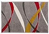Rugshop Modern Waves Design Area Rug 2' x 3' Gray