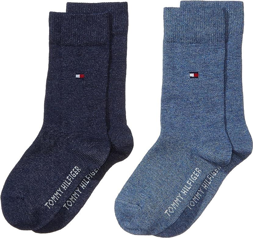 Tommy Hilfiger 391334, Calcetines para Niños, Azul (Jeans 356), 27-30 (Tamaño del fabricante:027) (Pack de 2: Amazon.es: Ropa y accesorios
