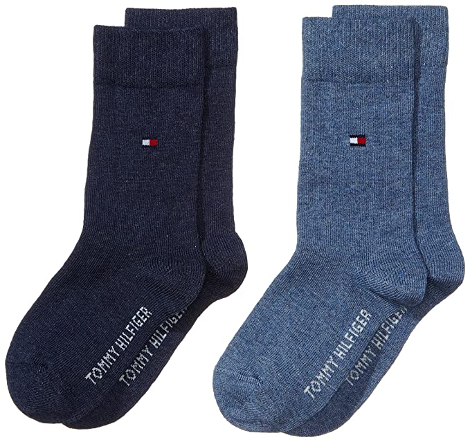 Tommy Hilfiger 391334 Calcetines, Niños, Azul (Jeans 356), 27-30