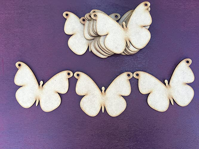Wooden MDF Butterfly Bunting