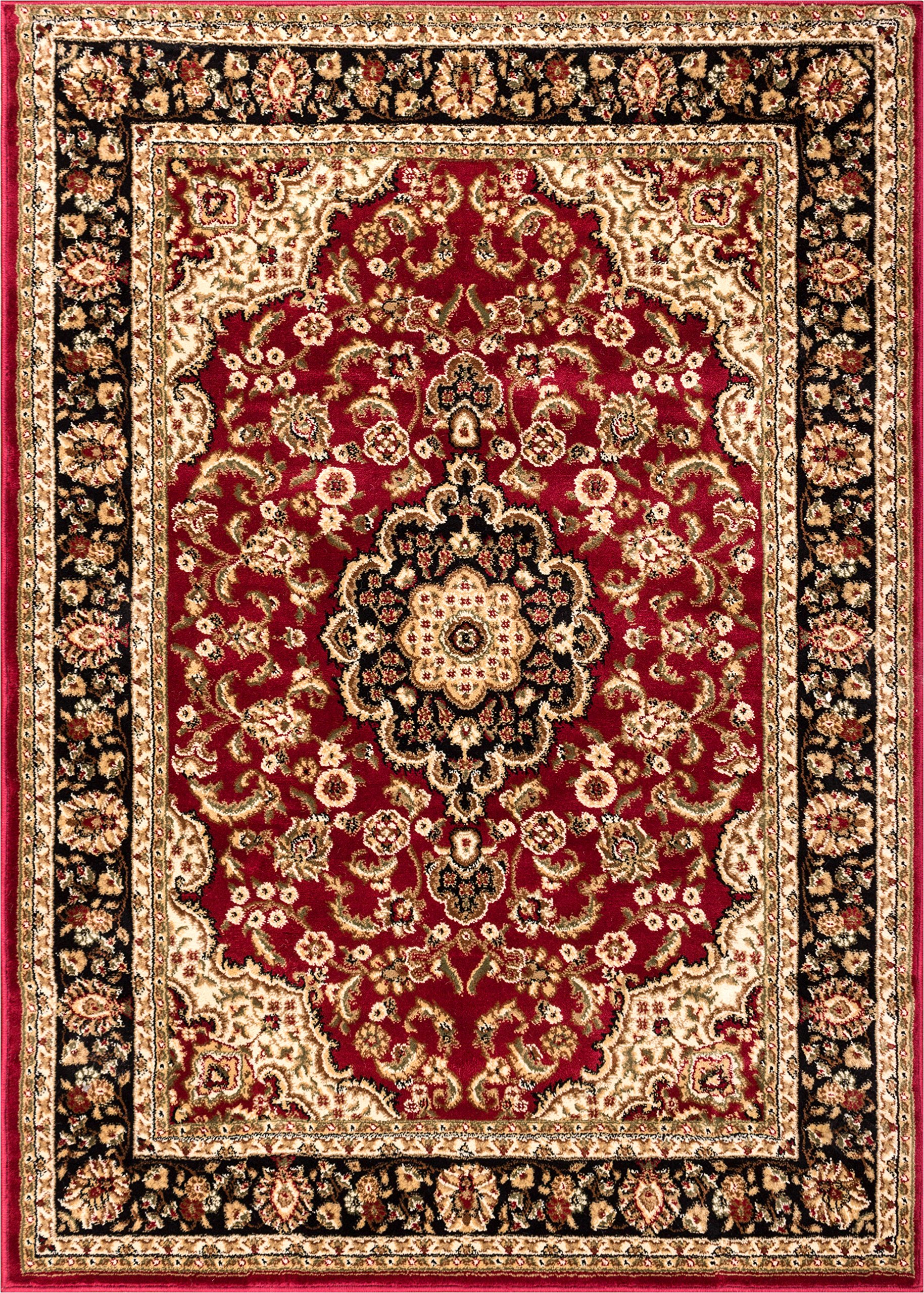 Well Woven Barclay Medallion Kashan Red Traditional Area Rug 7'10'' X 9'10''
