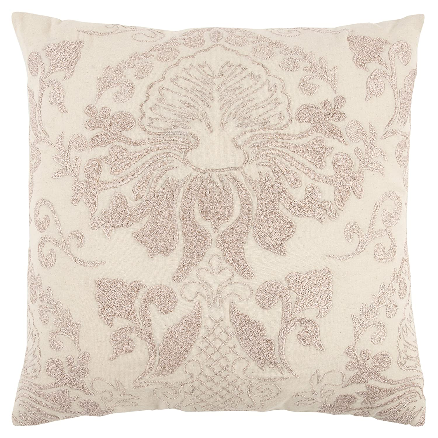 Rizzy Home Throw Pillow 20' x 20' Pink/Ivory