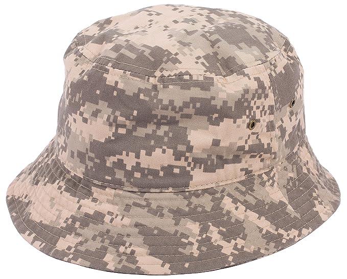 c946427d8 DRY77 Plain Solid Color Safari Sun Bucket Fishermen Fisherman Washed Cotton  Hat