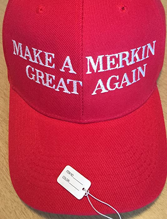 e2222826c8a Embroidered Trump Inspired Parody Hats Make A merkin Great Again at ...