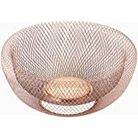 """NIFTY 7511COP Double Wall Mesh Decorative and Fruit Bowl, 5 quart/12"""", Copper"""