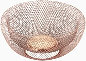 "NIFTY 7511COP Double Wall Mesh Decorative and Fruit Bowl, 5 quart/12"", Copper"