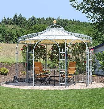 Eleo Florence Round Metal Garden Gazebo With Awning, Diameter  3.7u0026nbsp;Metres (Surface: