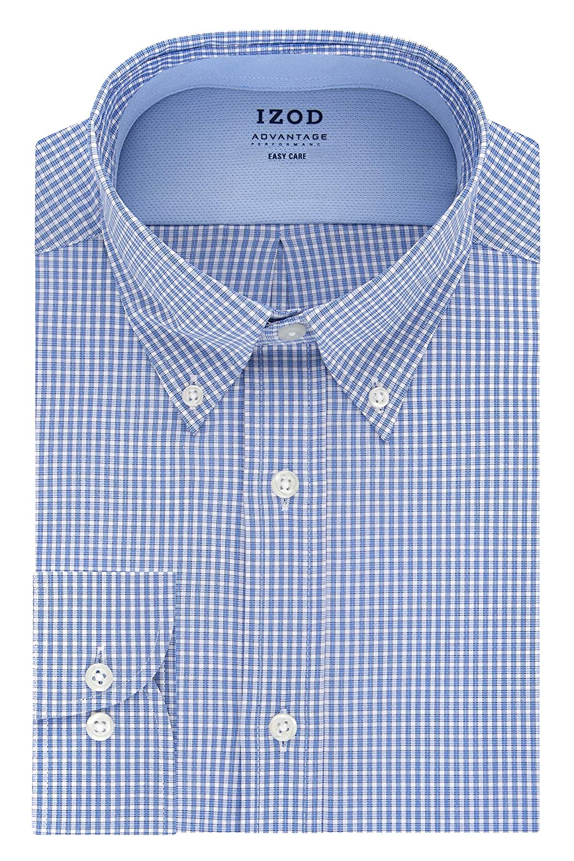 IZOD Men's BIG FIT Dress Shirt Stretch Cool FX Cooling Collar Check (Big and Tall)
