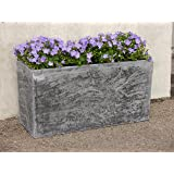 Pflanztrog ROCKS L100x B40x H50cm aus Fiberglas wie orig. Mauergestein, Pflanztröge Pflanzkübel Pflanzgefäße