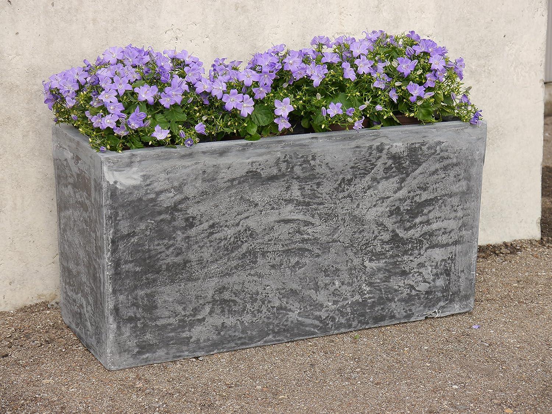 Pflanztrog Rocks L100x B40x H50cm Aus Fiberglas Wie Orig
