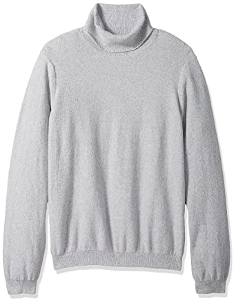 a409f1c92 GUESS Men s Long Sleeve Reverse Jersey Turtleneck Sweater at Amazon ...