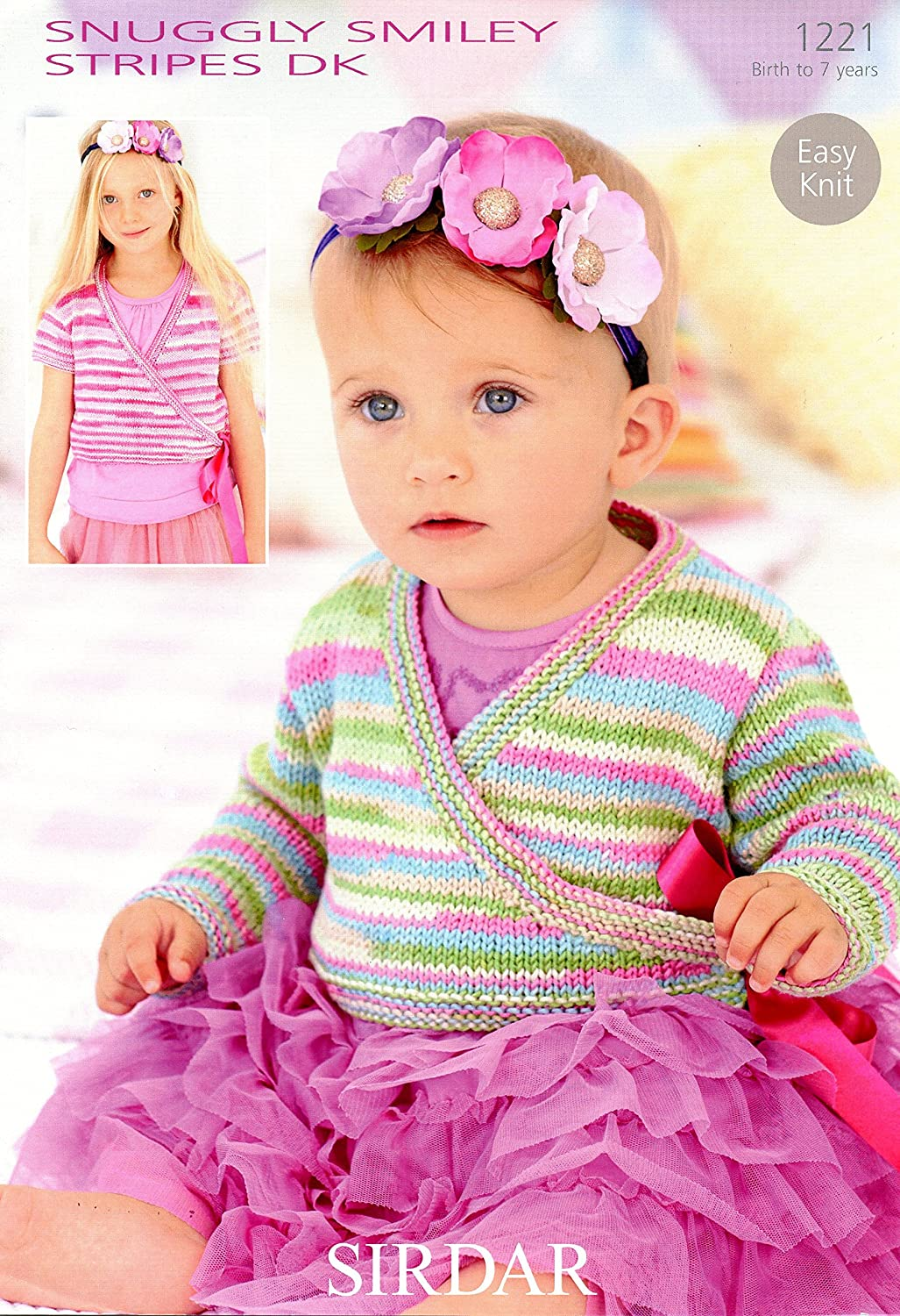 Amazon Com Easy Knit Ballet Cardigans In Snuggly Smiley Stripes Dk