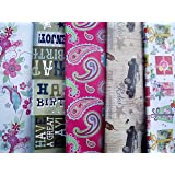 10fogli di carta regalo maschio, femmina, Farfalla, Farfalle, regali, fiori, vintage cars, motivo Paisley & Happy Birthday (2fogli ciascuno dei 5Design)