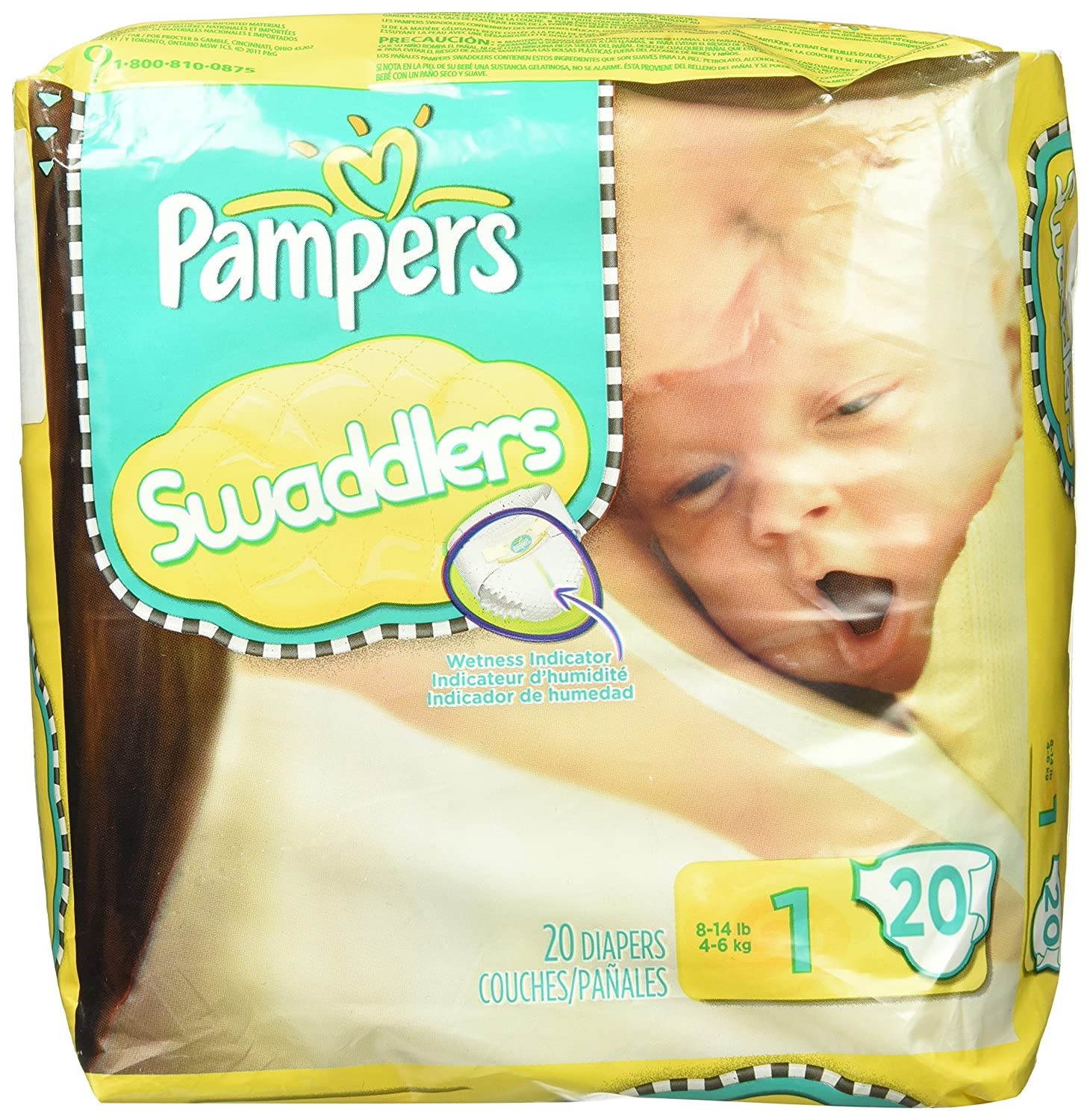 Amazon.com: Pampers Swaddlers Size 1 20 Count Mini Pack: Health & Personal Care