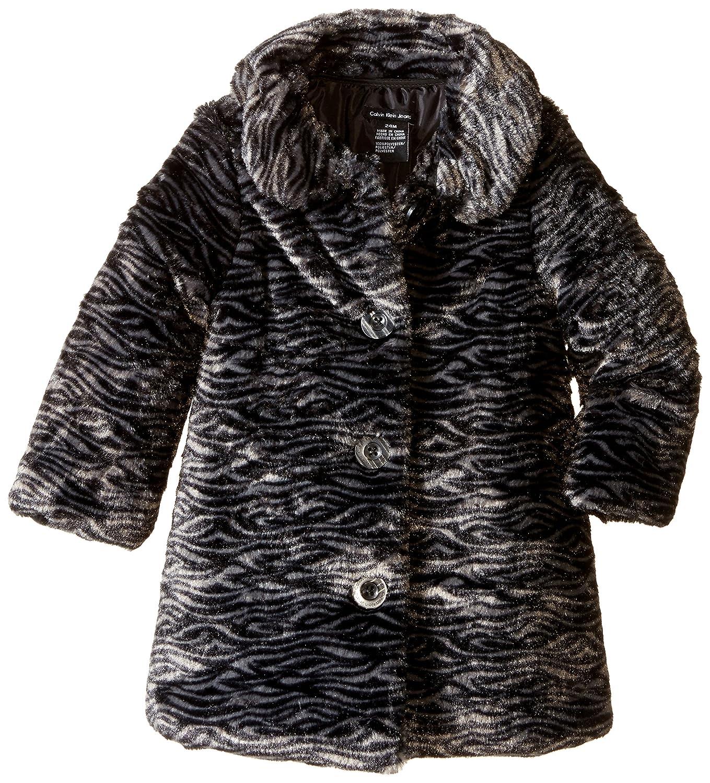 Amazon.com: Calvin Klein Baby Girls' Faux Fur Jacket: Clothing
