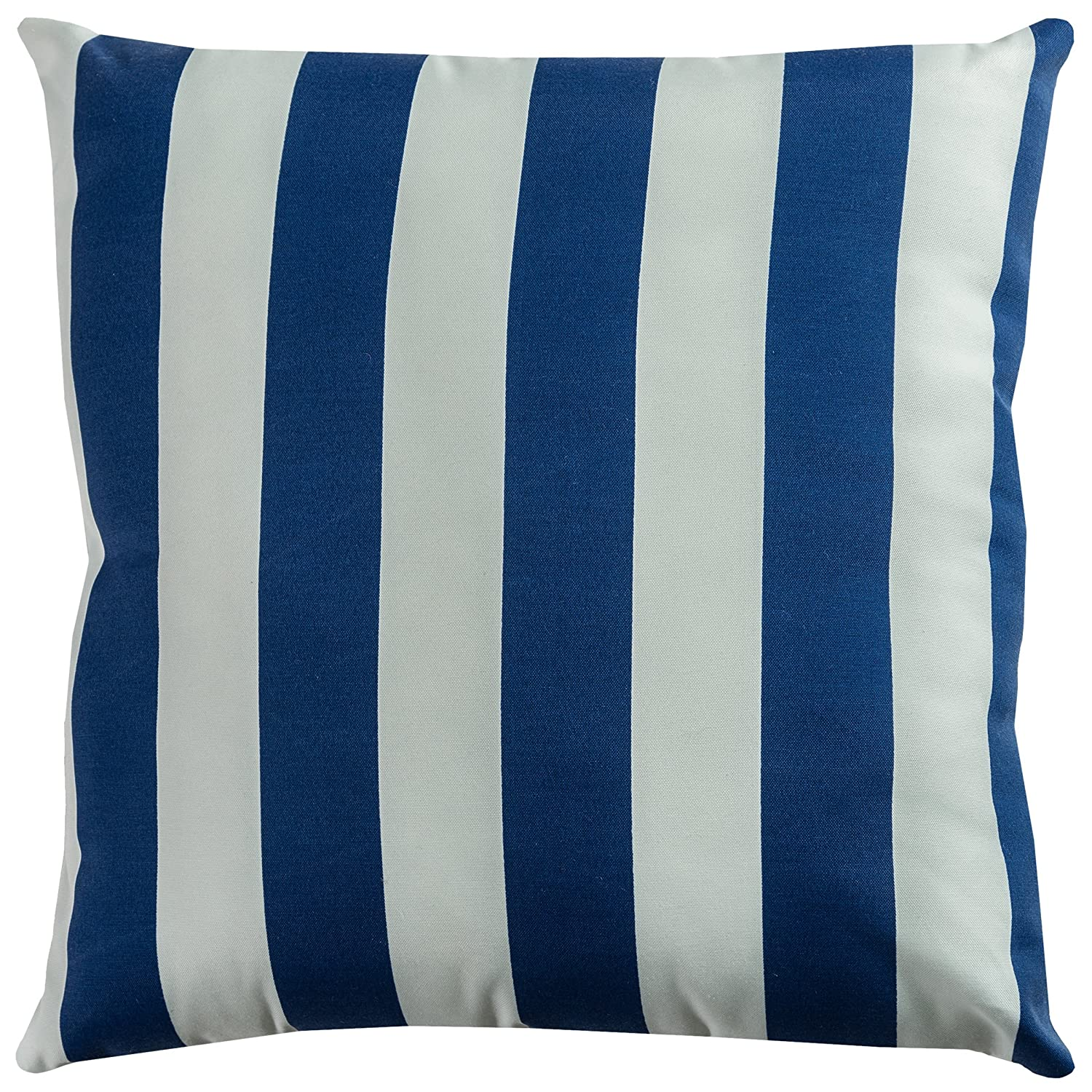 White Rizzy Home TFV045 Decorative Poly Filled Throw Pillow 22 x 22 Navy