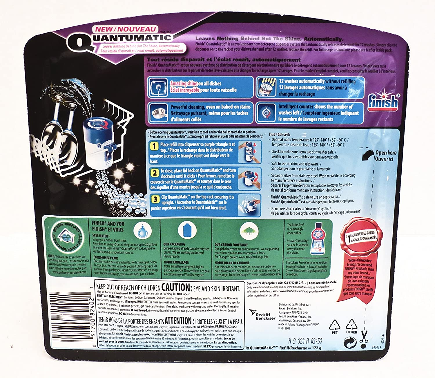 Amazon.com: Finish Quantumatic Automatic Dishwasher Detergent Dispenser System By Finish: Industrial & Scientific
