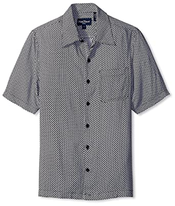 aa1180f2 Nat Nast Men's Geo Print Short Sleeve Shirt, Black S at Amazon Men's ...