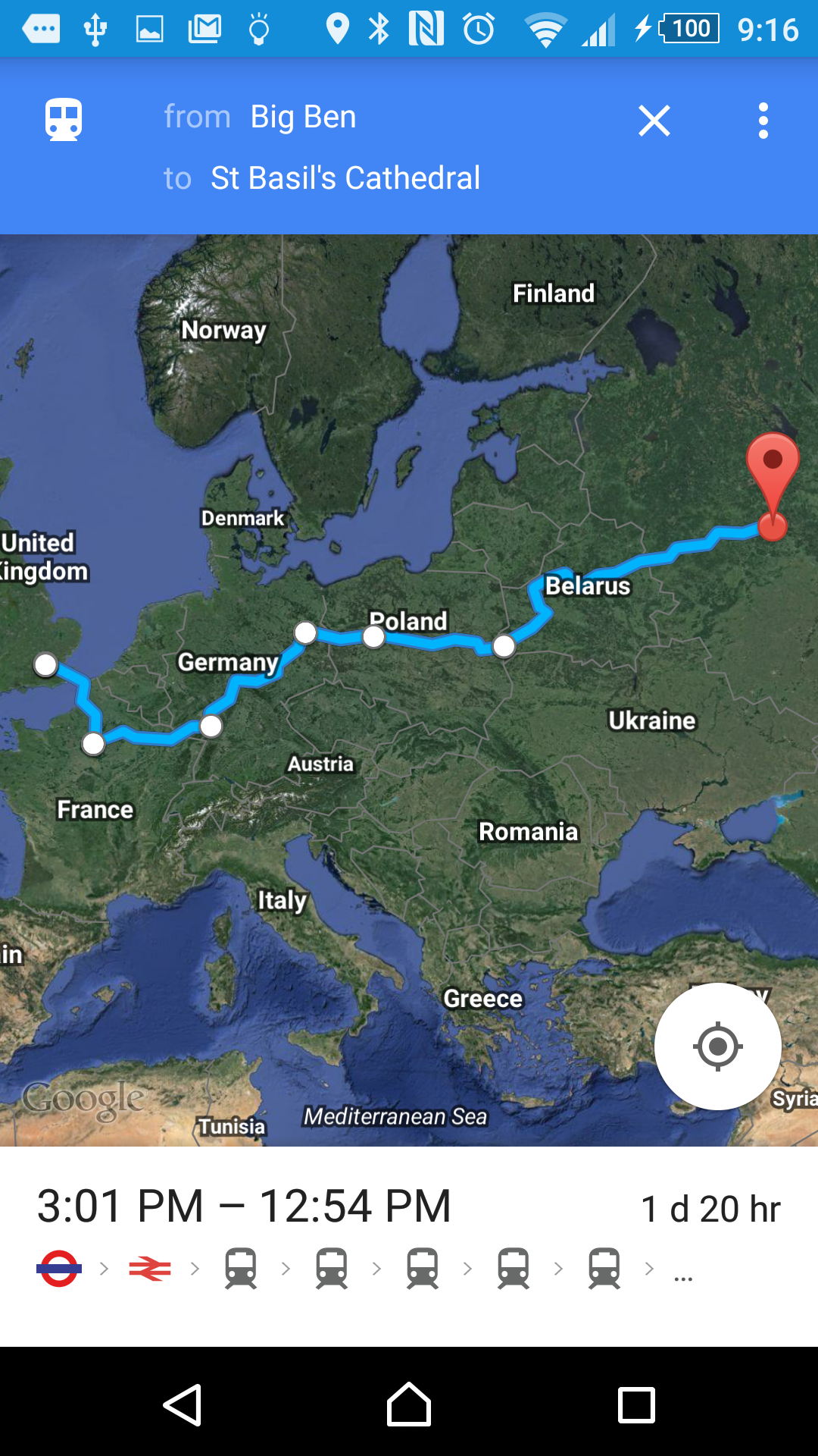 how to change route on android google maps