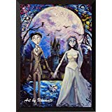 Uhomate Corpse Bride Victor and Emily Wall Decor Vincent Van Gogh Starry Night Posters Home Canvas Wall Art Print Nursery Dec