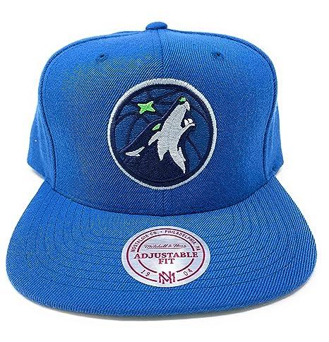 7d0b68f87d0a Amazon.com   Mitchell   Ness Minnesota Timberwolves Wool Cap - Black ...