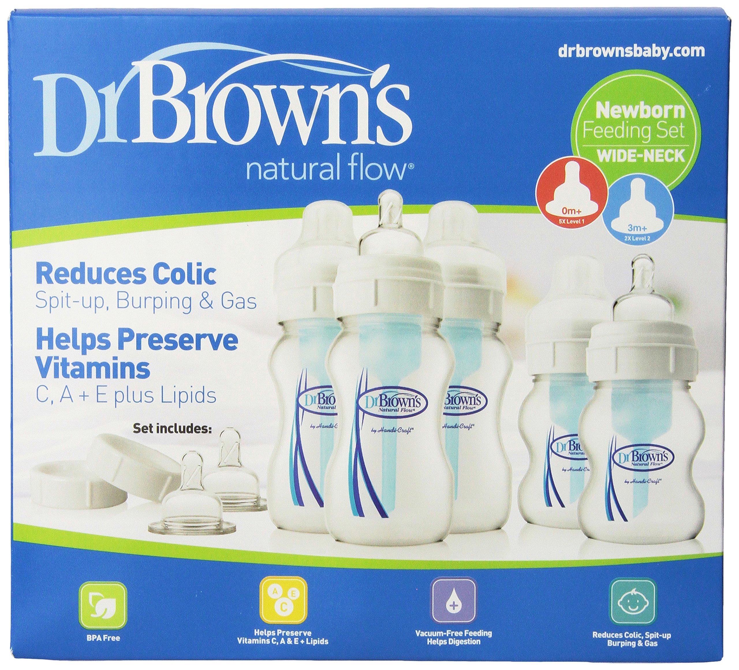 Dr. Brown's Original Wide-Neck Bottle Newborn Feeding Set