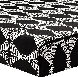 product image for Liz and Roo Pow Wow Crib Sheet, Black