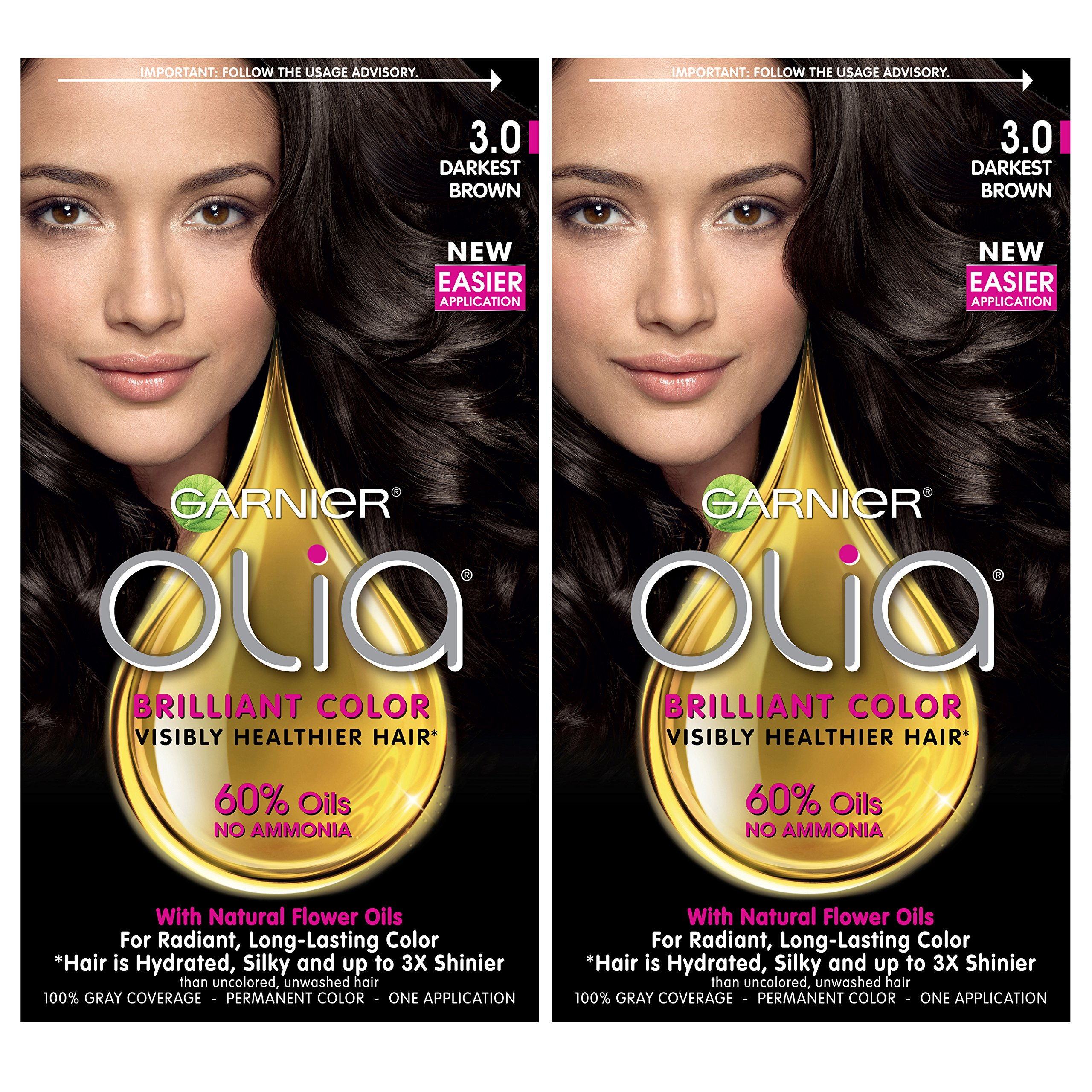 Amazon.com: Garnier Olia AmoniaFree Brilliant Color OilRich Permanent Hair Color, 4.0 Dark