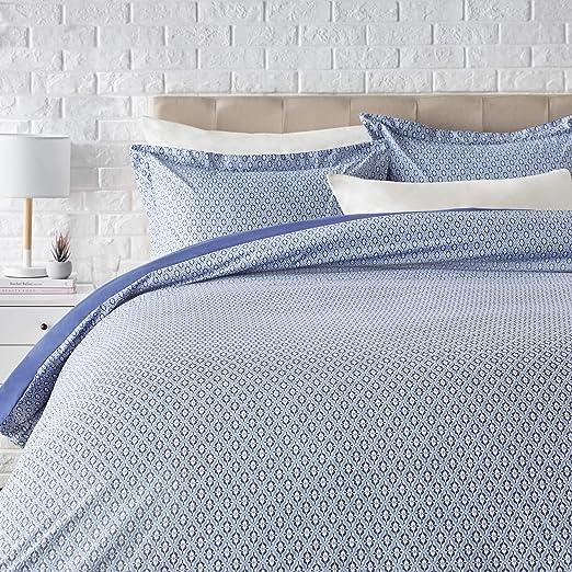 Sheet Set Microfiber Blue Damask Warm Cozy Shrink Wrinkle Resistant Lightweight