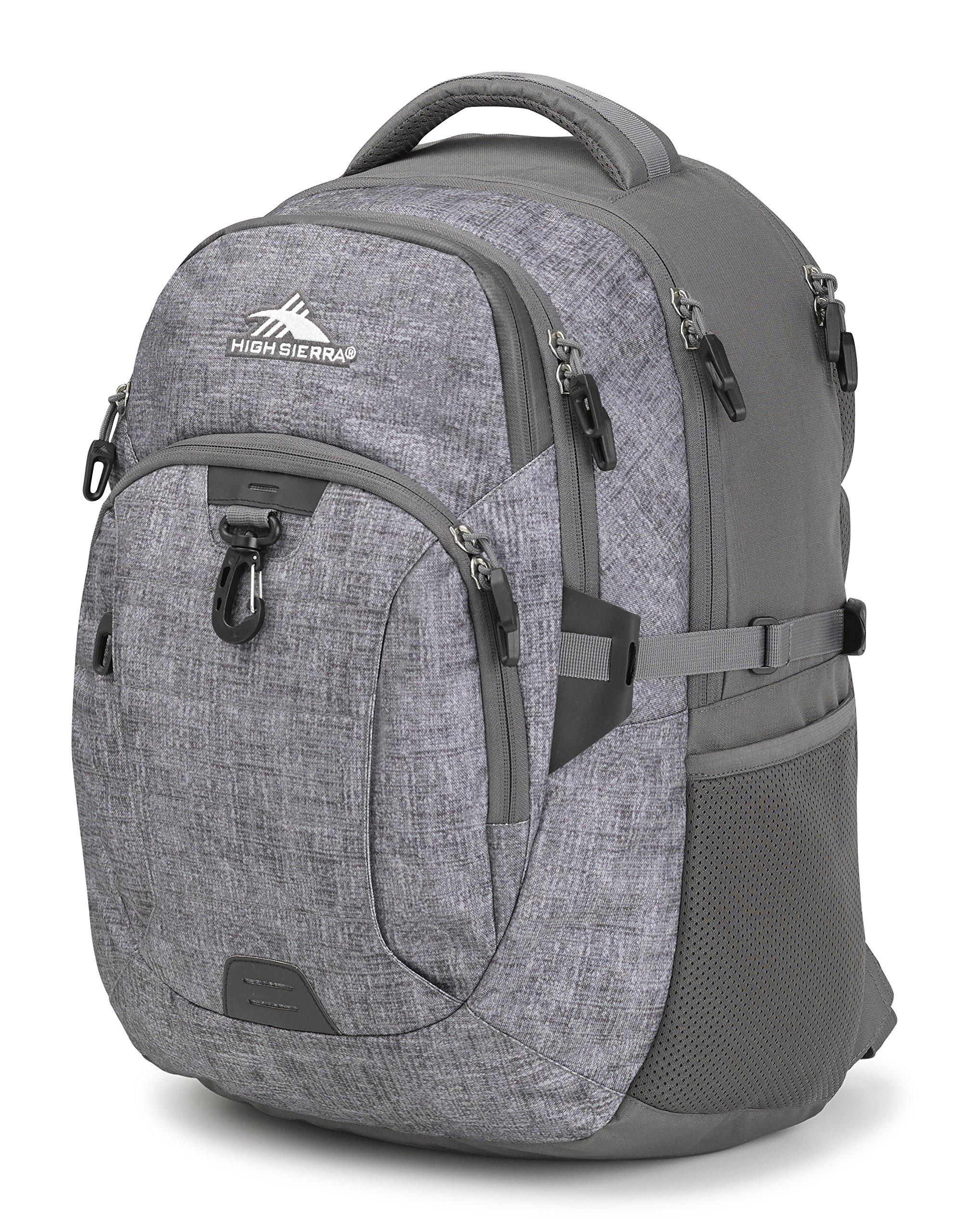 High Sierra Jarvis Laptop Backpack, Woolly Weave/Slate