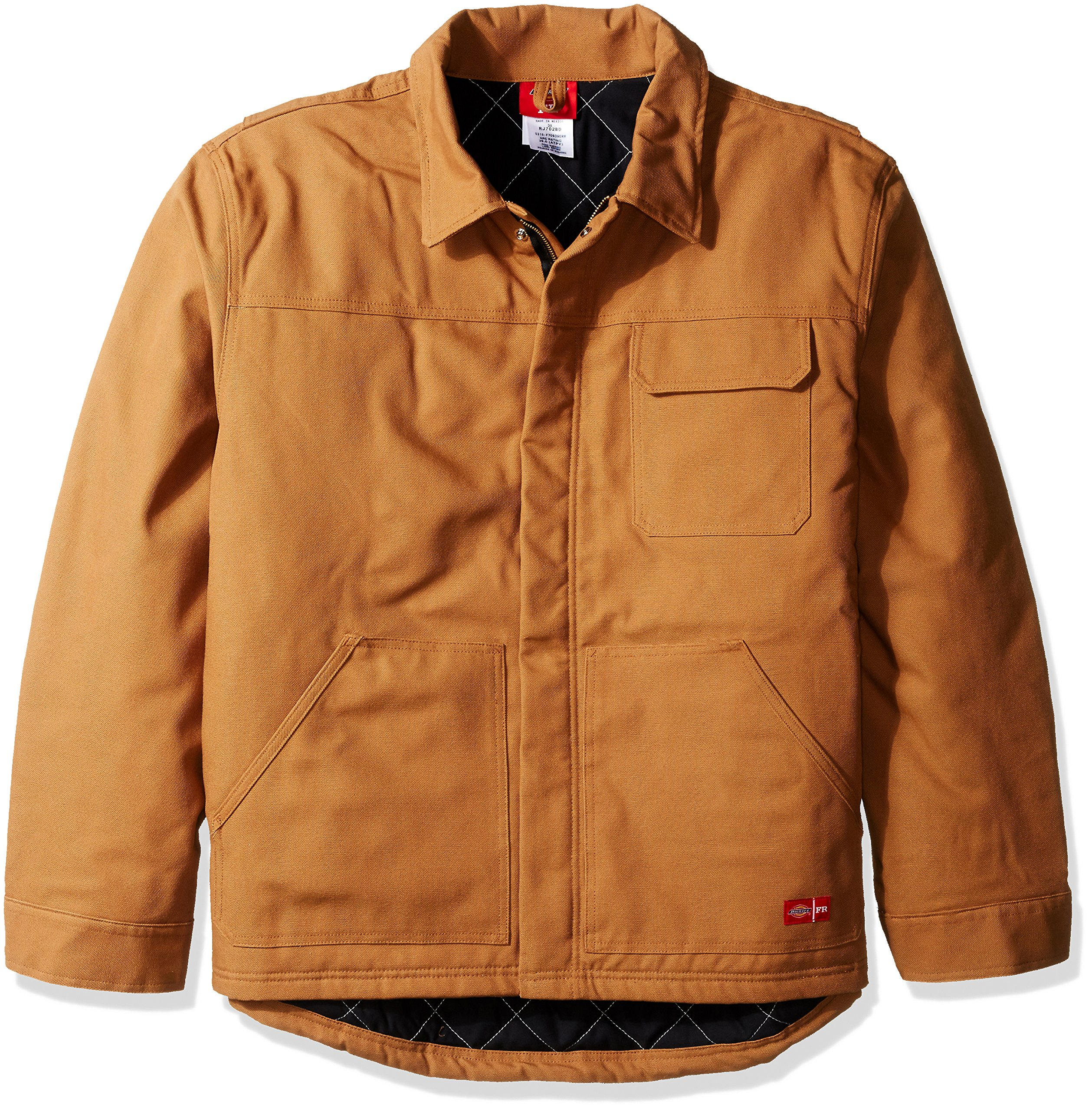 Dickies Men's Flame-Resistant Insulated Jacket Big, Brown Duck, 3X by Dickies