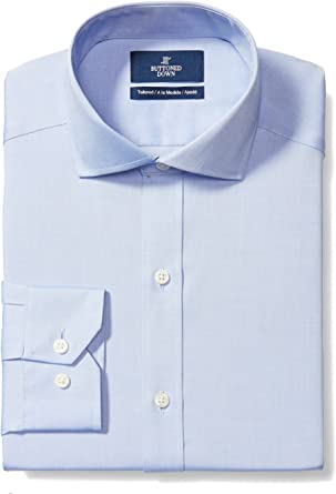 White Size 18.0 BUTTONED DOWN Men/'s Tailored Fit French Cuff Spread-Collar