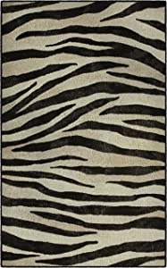"""Brumlow MILLS Zebra Stripes Carpet, Decorative Black & White Animal Print Contemporary Home Indoor Area Rug. Perfect For Any Living Room, Dining Room, Kitchen, or Bedroom - 2'6"""" x 3'10"""""""