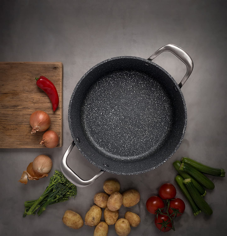 Aluminio Forjado endurecido Antiadherente Negro Zinel Designa-Sart/én 20 cm
