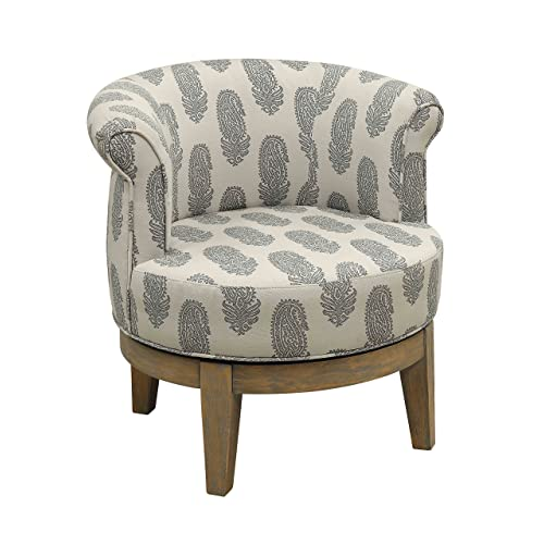 Treasure Trove Accents 17545 Swivel Accent Chair, Distressed