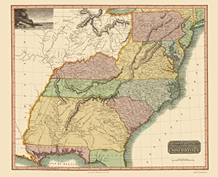 Amazon.com: Old State Map - Southeastern United States - Thomson ...