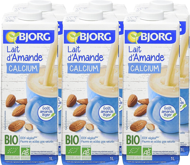 BJORG Leche De Almendras Calcio Bio 1 Llot 6: Amazon.es: Alimentación y bebidas