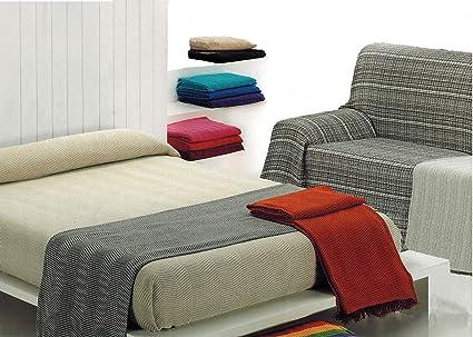 MercuryTextil Colcha Multiusos/Cubre sofás/Sobrecamas y colchas/Manta para Sofa 3 Plazas O Cama 135-150cm (Azul, 230 x 260 cm)