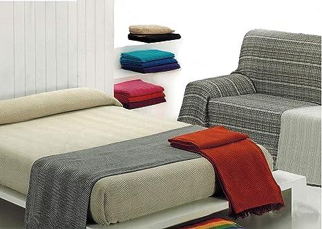 MercuryTextil Colcha Multiusos/Cubre sofás/Sobrecamas y colchas/Manta para Sofa 2 Plazas O Cama 90-105cm (Morado, 180 x 260 cm)