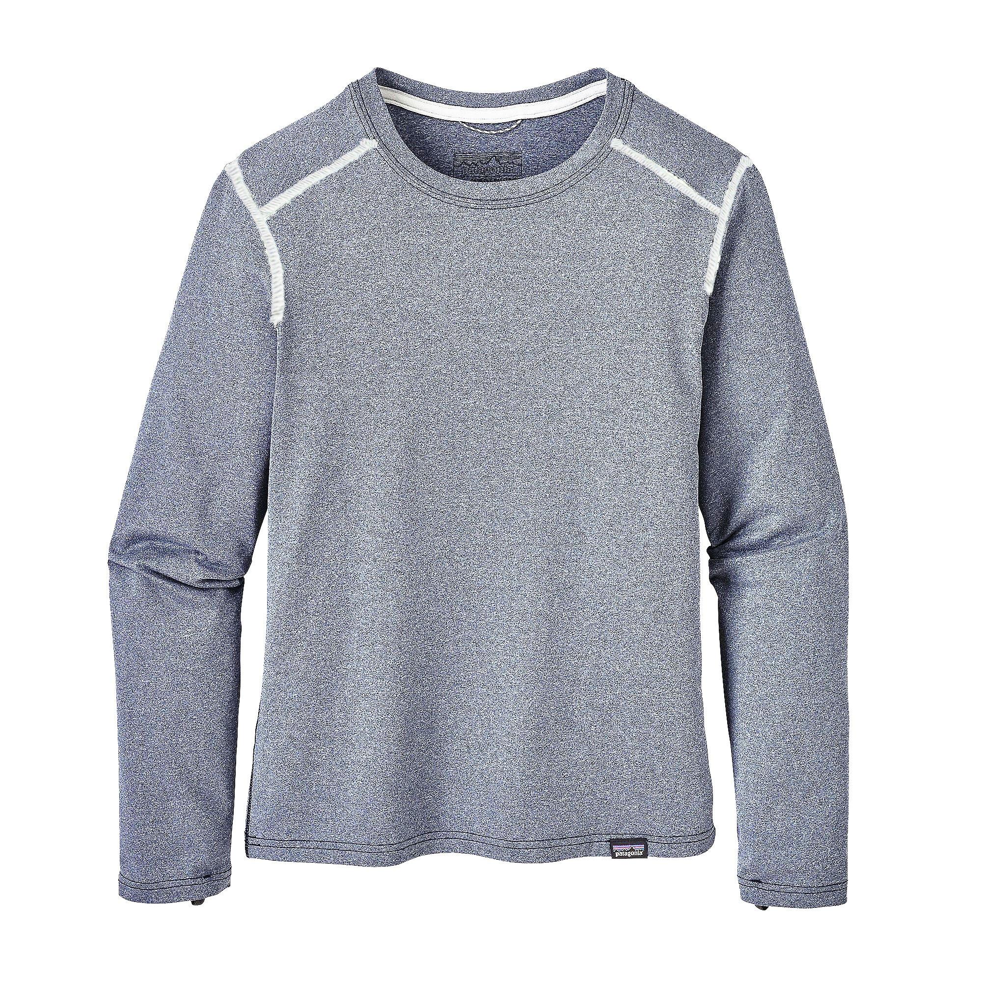 Patagonia Boy's Capilene Crew Shirt - Navy Blue - Small