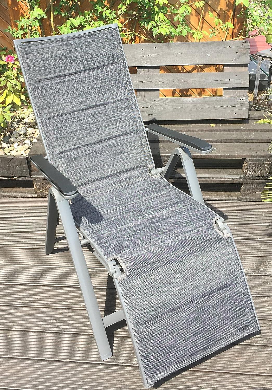 Garden Feelings Relaxsessel Aluminium Alu-Relaxsessel 7-Fach verstellbar Schwarz