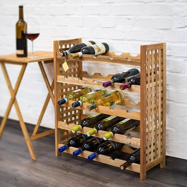 63x25x73 cm Marrone Relaxdays 10019278 Cantinetta per Vino Noce
