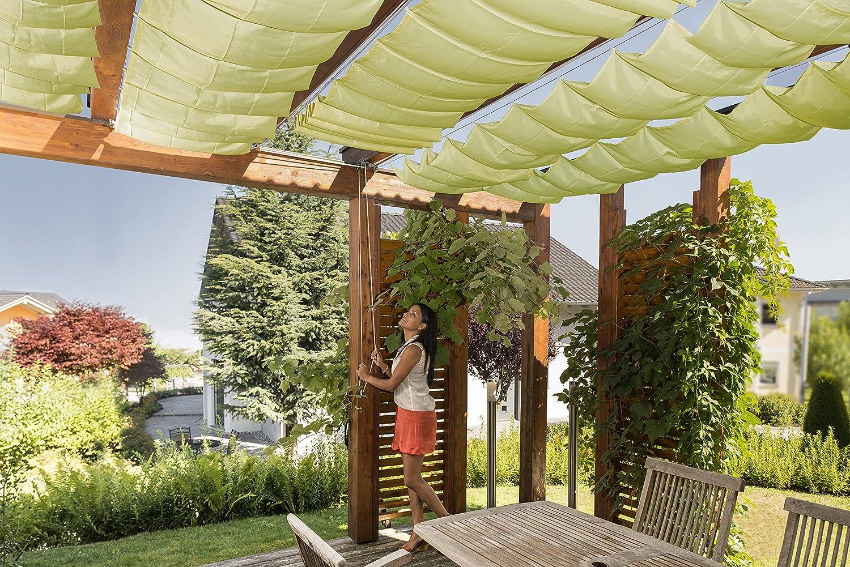 """Windhager Set toldo """"Verde Manzana tecnología de tensado de Cuerdas Juego Completo Incl. Vela 270 x 140 cm, pérgola o Invernadero para la protección ..."""