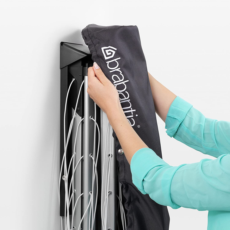 Brabantia WallFix Tendedero Plegable con Funda de Protecci/ón Gris Metal 0 cm