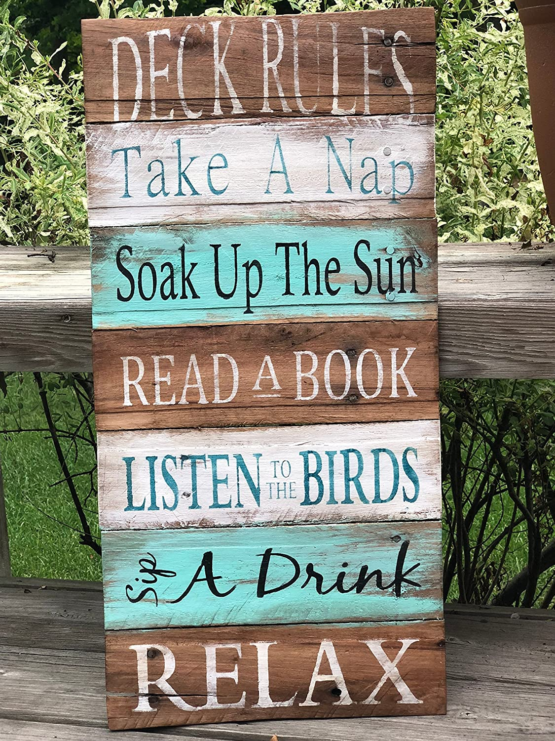 Back Yard Farmhouse sign Gardener Drink and Grow Things Rustic Sign FREE SHIPPING Flower Plants