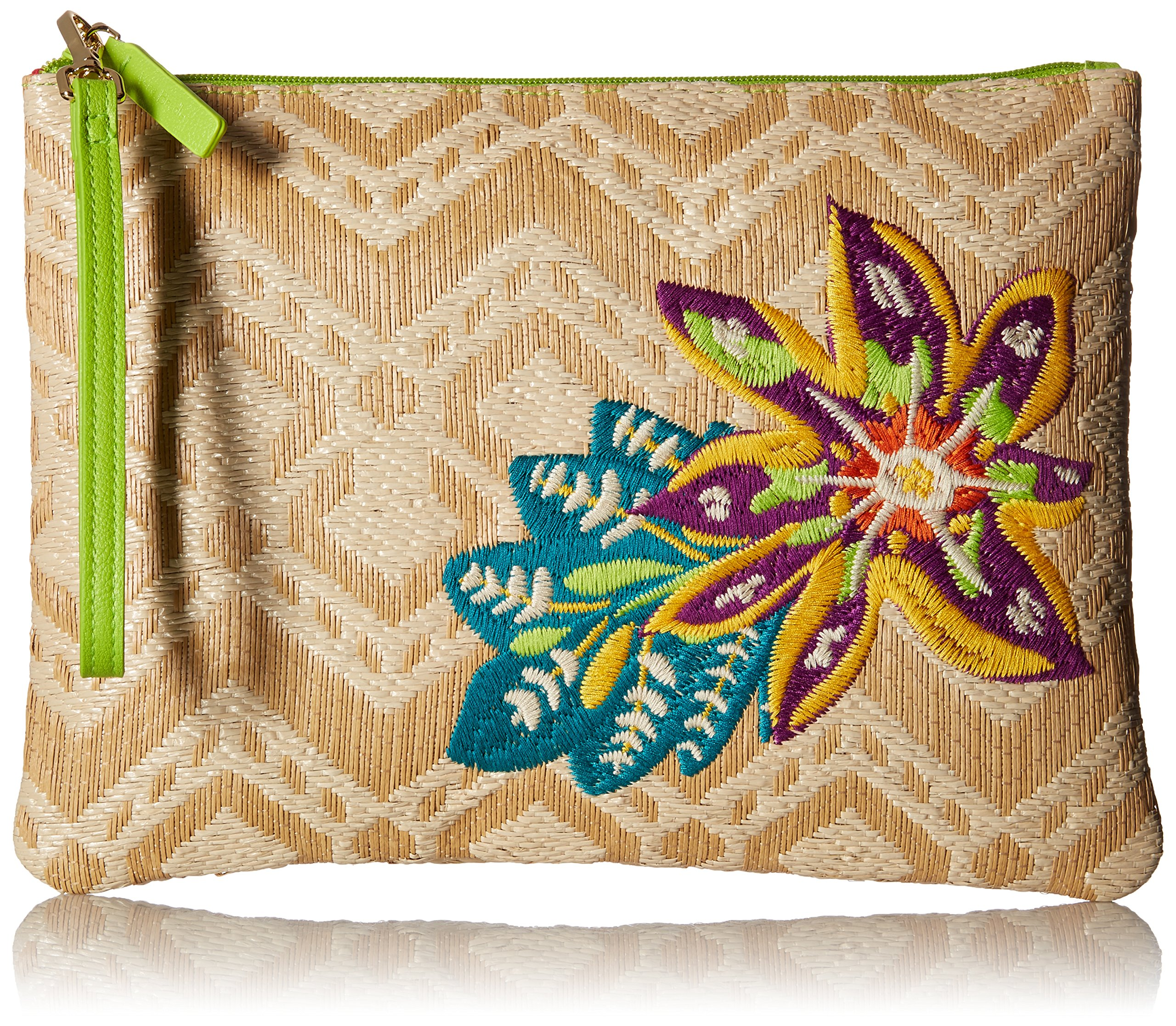 Vera Bradley Straw Beach Wristlet, Natural Chevron