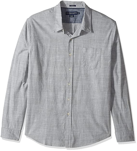 34e2d17a U.S. Polo Assn. Mens Slim Fit Stripe, Plaid Or Print Long Sleeve Sport  Shirt Button Down Shirt: Amazon.ca: Clothing & Accessories