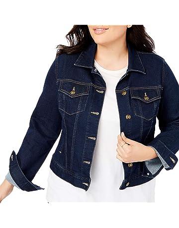 85fa2c826e8 Woman Within Women s Plus Size Stretch Denim Jacket