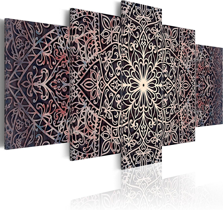murando - Cuadro en Lienzo 200x100 cm Mandala - Lienzo Tejido-no Tejido - Cuadro su Lienzo Tejido-no Tejido - Impresion en Calidad fotografica f-C-0132-b-o Oriental Ornamento